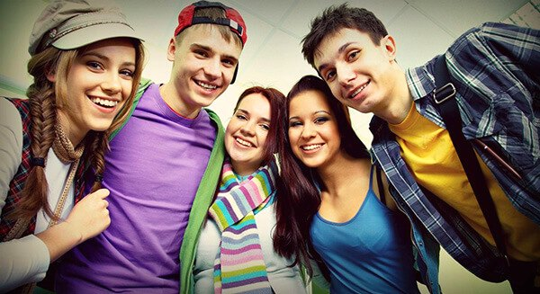 Group of teenagers in recovery
